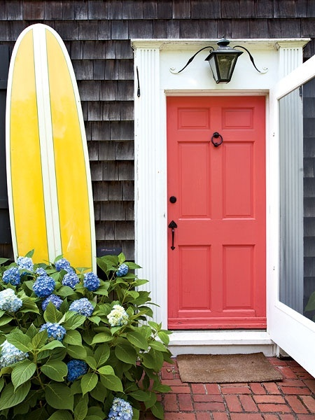 nantucket red paint door