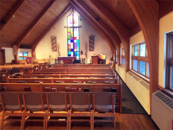 church interior staining service