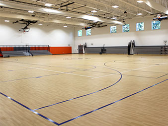 school gym interior painting service